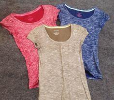 Women's (3) Item Lot of Xhilaration Sleepwear Shirts - T-Shirt - Crew Neck #Xhilaration #BasicTee