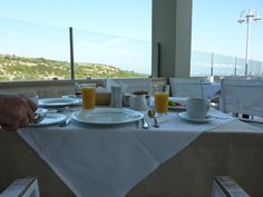 Breakfast at Rimondi Grand Resort and Spa hotel Crete, Greece Crete Rethymnon, Crete Greece, Hotel Spa, Dining Table, Table Decorations, Breakfast, Morning Coffee, Dinner Table, Dining Room Table