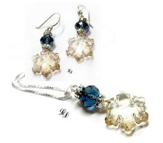 Sterling Silver and crystal winter Jewelry set  by LissieDesign, kr389.00