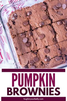 Delightfully rich and full of chocolate and pumpkin flavor, these pumpkin chocolate brownies make the perfect fall treat with a scoop of vanilla ice cream! #brownies #desserts #easyrecipes #sweets #pumpkinrecipes Thanksgiving Desserts Easy, Easy To Make Desserts, Unique Desserts, Fun Desserts, Dessert Recipes, Chocolate Bar Recipe, Chocolate Brownies, Chocolate Desserts, Pumpkin Brownies