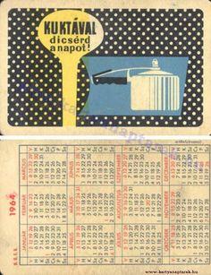 1964 - 1964_0153 - Régi magyar kártyanaptárak Pocket Calendar, Retro, Cards, Pockets, Pocket Diary, Maps, Retro Illustration, Playing Cards