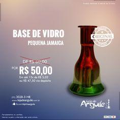 Base de Vidro Pequena Jamaica  De R$ 60,00 / Por R$ 50,00 Em até 12x de R$ 5,02 ou R$ 47,50 via depósito  Compre Online: http://www.lojadoarguile.com.br/vidro-pequeno-jamaica