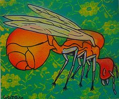 Tanajura Sorocaba  -2010 Spray , marker acrilico  s/ papel algodão esgotado - sold out