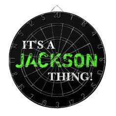 IT'S A JACKSON THING! DARTBOARD
