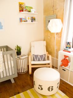 Eclectic Modern Nursery - love the mix of color and patterns