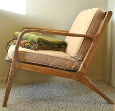 Danish Mid Century Teak Lounge Chair - Midcentury - Chairs - other ...