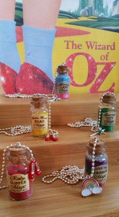 Glass Bottle Necklace Wizard of Oz by AphroditeWearableArt, $9.00