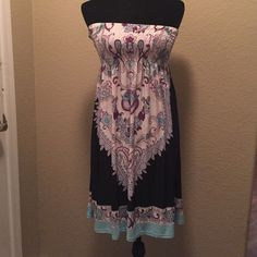 ✂️ Strapless dress nwot Has a sexy silky feel. Tube fitting top. Make offer Dresses Strapless