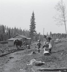 A typical small rural view North Carelian Farm, Finland of the 1920's