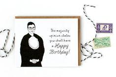 Ruth Bader Ginsburg Happy Birthday Card