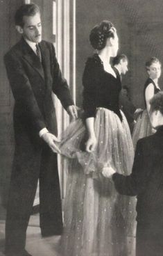 """Dior worked for Robert Piguet beginning in 1937 and later said that """"Robert Piguet taught me the virtues of simplicity through which true elegance must come."""""""