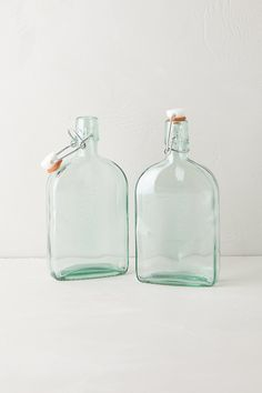 I sooo want this. I can see my DIY bath oil concoctions in these Green Glass Storage / Anthropologie. These slim bottles will fit nicely on the shelf with my DIY labels. Can't wait to make them.