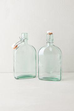 Green Glass Storage / Anthropologie