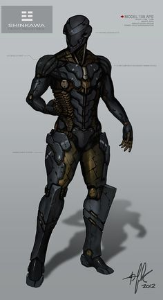 sci-fi character *Note, modify the knee side armor plates
