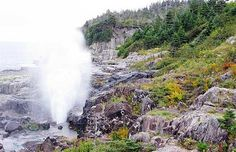 """The East Coast Trail Newfoundland, Canada """"The Spout"""" Wow! We ate our lunch… East Coast Travel, East Coast Road Trip, Newfoundland Canada, Newfoundland And Labrador, Happy Valley Goose Bay, East Coast Canada, Places To Travel, Places To Go, Canadian Travel"""