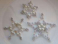 Bead snowflake/star ornaments