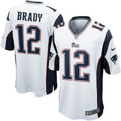 Shop for Official Youth White NIKE Game New England Patriots http://#12 Tom Brady NFL Jersey Get Same Day Shipping at NFL New England Patriots Team Store. Size S, M,L, 2X, 3X, 4X, 5X.$59.99
