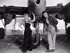 photo Ann Sothern James Craig building aircraft film Swing Shift Maisie 895-22