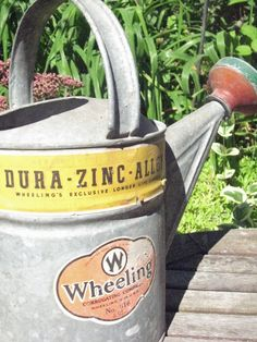 Aren't vintage watering cans cool?
