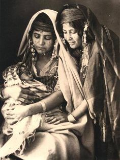 .Mother and Daughter by Rudolf Lehnert, early 1900's