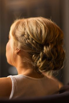 updo with braid | braided bridal bun - Percy Handmade | Wedding Hair Accessories ...