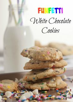 Funfetti White Chocolate Chip | Cookies | Funfetti Cookies | Funfetti White Chocolate Chip Cookies | White Chocolate cookies | Funfetti Cookies | Boston Girl Bakes