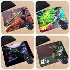 Overwatch Genji Play Plus Anti-Slip Mouse Pad 180x220x2mm 250x290x2mm Mat Cool Design