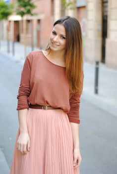 Soft rose pink : I wish I was in Europe dressing like my Spanish and French self :)