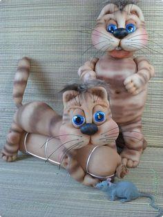 Коты по МК Елены Лаврентьевой. http://pawy.jimdo.com/ . фото 2
