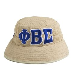 56722425f11 Phi Beta Sigma Fraternity Khaki Greek Letters Bucket Hat Greek  Paraphernalia
