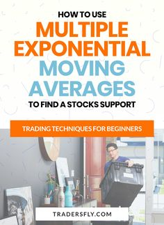 Stock Trading - Do you want to know how to use multiple exponential moving averages to find stocks support? Check this out! Fundamental Analysis, Technical Analysis, Stock Market Basics, Stock Charts, Moving Average, Knowledge And Wisdom, Educational Videos, Trading Strategies, Make More Money