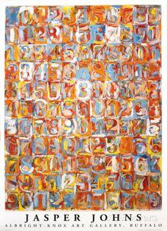 オールポスターズの ジャスパー・ジョーンズ「Numbers in Color」高品質プリント