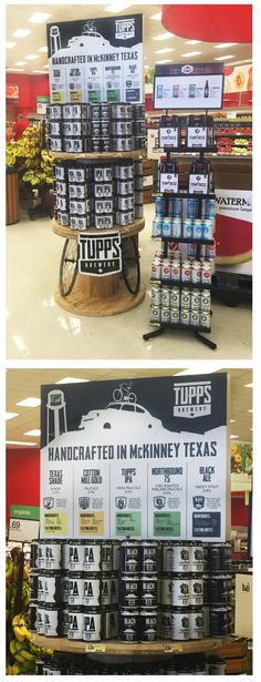 Tupps - local brewery fixture in local Target, great placement and unique display opportunity