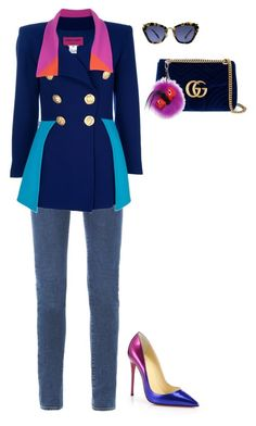 """Senza titolo #5976"" by marcellamic ❤ liked on Polyvore featuring Yves Saint Laurent, Christian Lacroix, Gucci, Fendi, Miu Miu and Christian Louboutin"