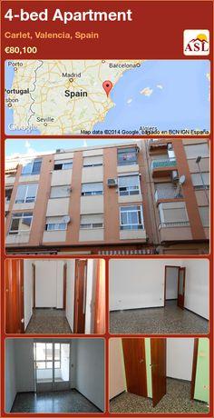 4-bed Apartment in Carlet, Valencia, Spain ►€80,100 #PropertyForSaleInSpain