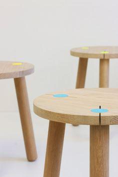 oak stool Klemm by BPistorius on Etsy, €135.00