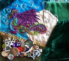 Romantic Crazy Quilt Blocks | Sewing | Pinterest | Crazy quilt ... : crazy quilt dragon - Adamdwight.com