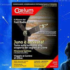 Coelum e il Grand Tour del Sistema Solare: lo Speciale per luglio è dedicato a #Giove, di cui la sonda #Juno, in orbita tra pochi giorni, è pronta a scoprire i misteri. #July4th #Jupiter  E uno speciale anche per agosto: come non parlare dello sciame più amato del mondo: arrivano le #Perseidi! Astronomy