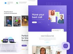 CC - Website Exploration color scheme user interface user experience ui ux page landing lander design website web video chat call conference Web Design Tips, Web Design Inspiration, App Design, Mobile Design, Flat Design, Daily Inspiration, Website Web, Business Website, Show And Tell