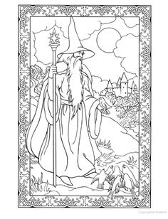 Wondrous Wizards Coloring Book, Dover Publications