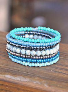 Blues Boho Wrap Bracelet