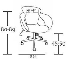 SixBros. Design Taburete giratorio Silla de oficina blanco - M-65335-1/725: Amazon.es: Hogar