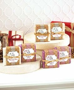 Handcrafted, plant-based Simply be well Holiday Soap will leave your hands feeling clean and smelling fragrant. Using traditional soap-making techniques, this l