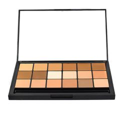 RCMA VK Foundation Palette ($72) ❤ liked on Polyvore featuring beauty products, makeup, face makeup, foundation, creme foundation, mineral foundation and cream foundation