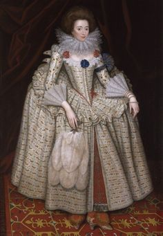 Portrait of Mary Curzon, Countess of Dorset (1585 -1645), by William Hamilton at Kedleston Hall, daughter and heiress of Sir George Curzon of Croxall Hall, Derbyshire.  She was the wife of Edward Sackville, 4th Earl of Dorset KG (1591 - 17 July 1652) was an English courtier, soldier and politician.