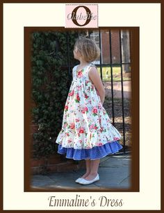 fairytale frocks and lollipops :: olabelhe, dawn hansen, emmaline's dress,girl dress, special occasion, tiered dress, sunday, church, birthday, holiday, summer, spring, fall, winter, instant, sewing, e-pattern, downloadable, pdf, e-book, tutorial