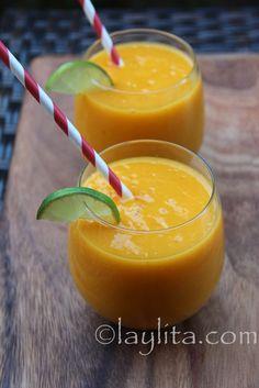 Recette du frappé mangue et fruits de la passion