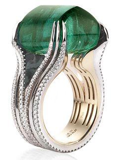 Emerald & Diamond Ring #Diamond #Ring