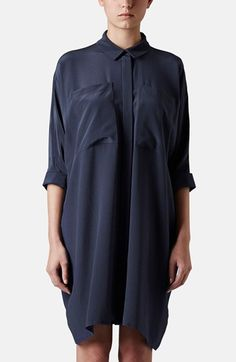 Topshop Boutique Silk Shirt Dress available at #Nordstrom