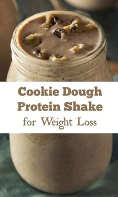 Cookie Dough Protein Shake for Weight Loss 9 Healthy Protein Shake Recipes for Weight Loss : Almond Joy Protein Shakes.Sunrise Smoothie for Weight Loss.Dark Chocolate Peppermint Shake and Whey Shake, Healthy Protein Shakes, Chocolate Protein Shakes, Vanilla Protein Shakes, Shake Shake, Protein Foods, Weight Loss Meals, Weight Loss Shakes, Weight Loss Smoothies